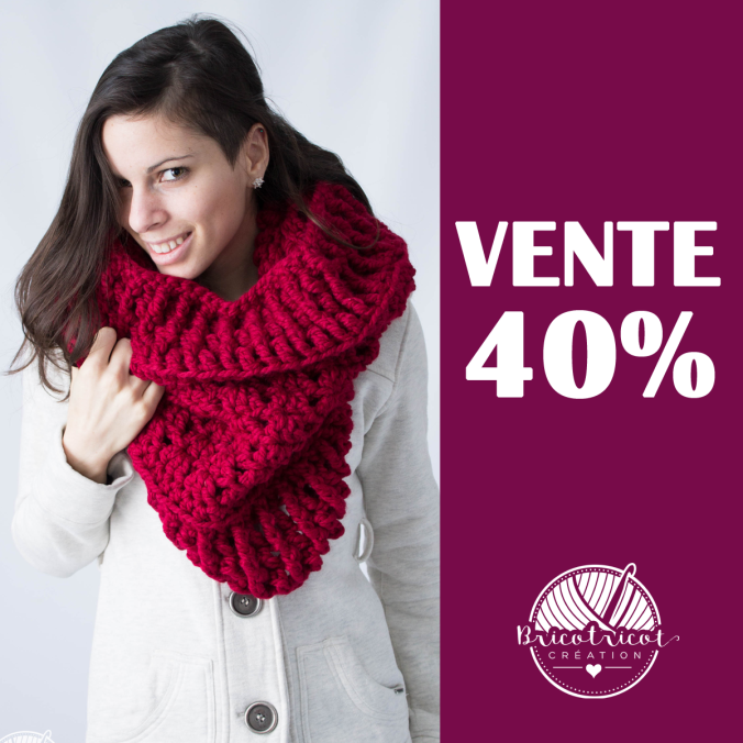 vente 40% bricotricot creation